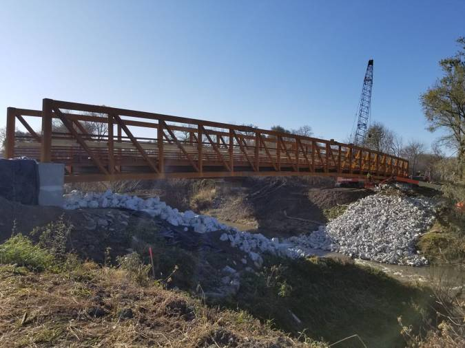 new bridge over Mosquito Creek near Weston